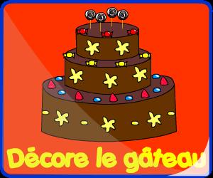 Décore le gâteau