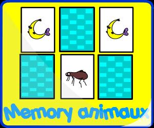 Jeux de mémoire animaux