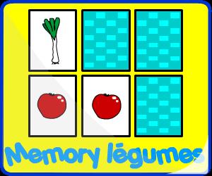 Jeux de mémoire légumes
