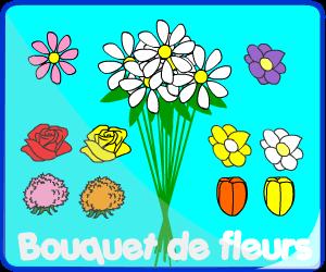 Jeu de bouquet de fleurs